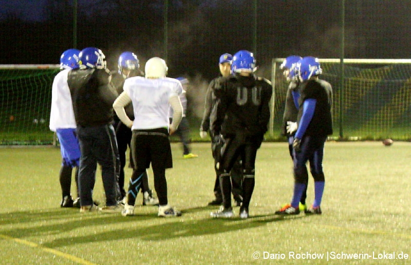 Mecklenburg Bulls beim Training am 02.02. 2018