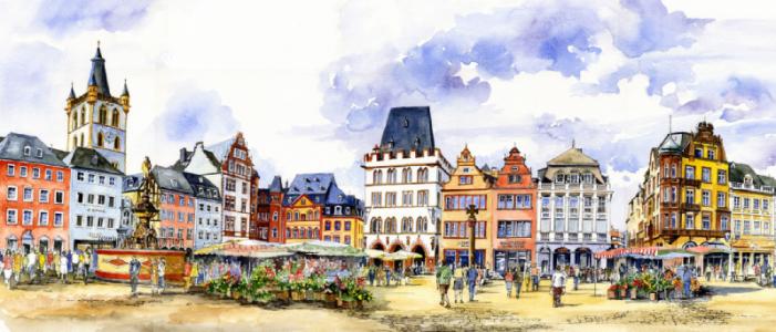 Kurze Pause: Wir verabschieden uns nach Trier