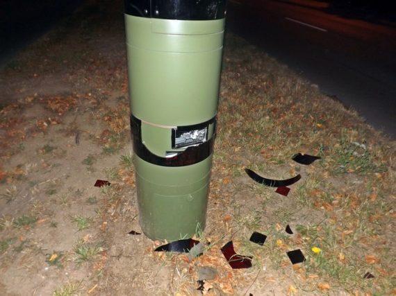 Blitzer am Grünen Tal beschädigt