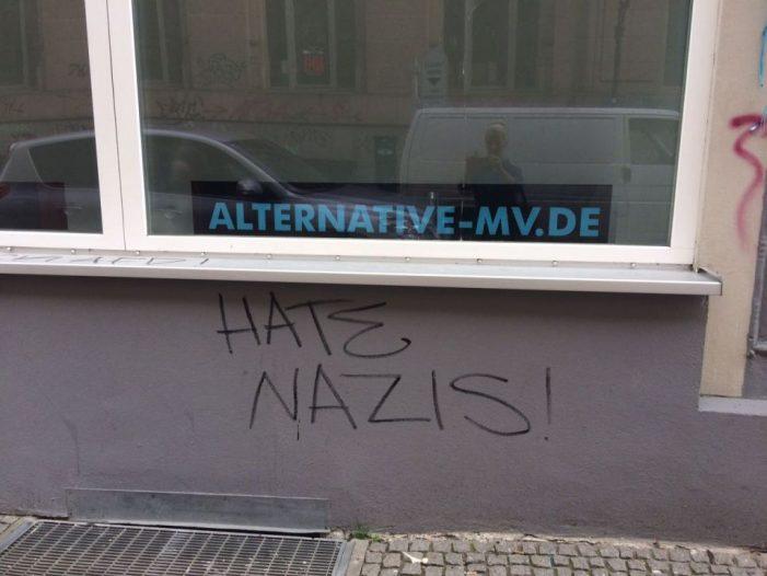 Erneute Sachbeschädigung an Büro der AfD Schwerin