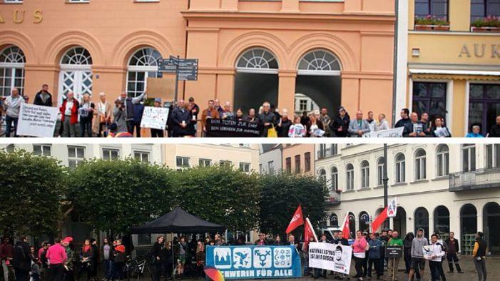 Heute wieder Mahnwache und Gegenprotest