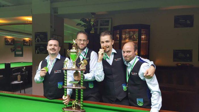 Schwerin wird Vizemeister beim Snooker-Teampokal