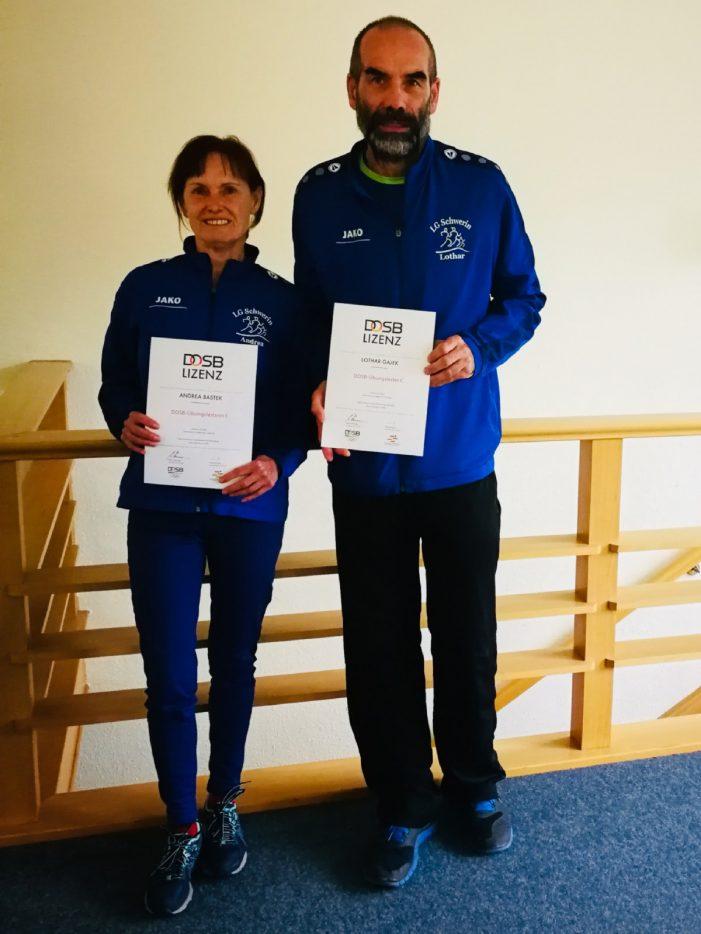 Andrea Bastek und Lothar Gajek erwerben die Lizenz des Deutschen Olympischen Sportbundes